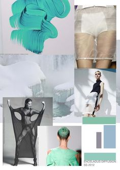 Adele Parker. Enceladus 0.11  Mood board Sketchbook Layout, Fashion Degrees, Identity, Future Trends, Fashion Sketchbook, Fashion Portfolio, Layout Inspiration, Fashion Images, Fashion Branding