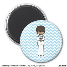 Shop First Holy Communion cute cartoon boy magnet created by Avril_Storybooks. Personalize it with photos & text or purchase as is! Cute Cartoon Boy, Communion Gifts, Books For Boys, First Holy Communion, Cute Little Girls, Book Activities, Little Gifts, Special Day, Holi