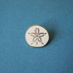 Sand Dollar Enamel Pin Shell Lapel Pin // by shinyapplestudio