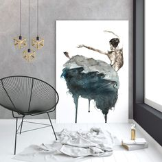 Blendscape in watercolor and ink Art print - Poster, Framed print, Canvas Ballerina Painting, Shop Art, Framed Prints, Art Prints, Wall Decor, Wall Art, Watercolor And Ink, Ink Art, Amazing Art