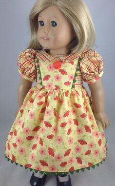 American Girl or Waldorf School Dress by mybonbonboutique on Etsy, $25.00