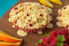 The Café Sucré Farine: The Best Muffins - Ever! Raspberry Crumble Muffins w/ Citrus Drizzle