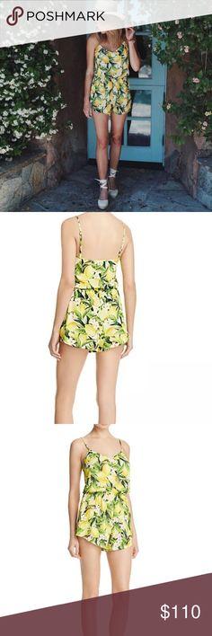 "Show Me Your MuMu Rorey Lemon Romper NWT//XS//Bust: 36.5""//Inseam: 2 1/4"" Show Me Your MuMu Pants Jumpsuits & Rompers"