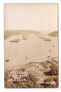 Real Photo, Patrol Boats, North West Arm, Halifax, Nova Scotia, F G Goodenough, AZO Royal Canadian Navy, Auction Items, Not Good Enough, World War I, Nova Scotia, North West, Boats, Arms, Sea