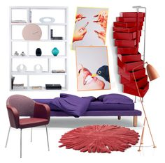 """Fun Room"" by monmondefou ❤ liked on Polyvore featuring interior, interiors, interior design, home, home decor, interior decorating, B-Line, Gubi, Seletti and TemaHome"