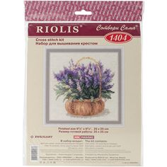 French Lavender Counted Cross Stitch Kit