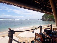 My favorite sanctuary, private beach at Finn's Beach Club Bali Indonesia