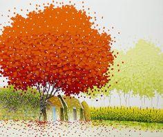 Phan Thu Trang, paintings of Vietnam, colourful paintings, art travel