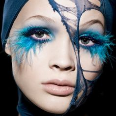 What do you think about this feathery look?   Makeup: Eva Mittmann   Model: Luisa   Photographer: Marie Schmidt