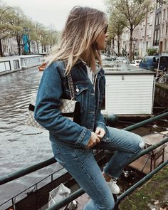 @bentheliem full denim look in Amsterdam