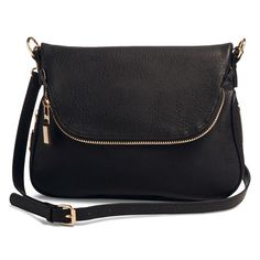 Perfect for shopping or sightseeing the Women's Zipper Flap Crossbody Handbag offers uniquely functional details like a zipper expander and zippered flap pocket that allow you to add space while on the go. Interior pockets help you to stay organized, while a crossbody strap keeps your hands free.
