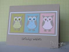 I love this owl punch.  CUTE!  This would be adorable in bright colors too.