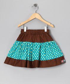Turquoise Enjoy Summer Twirly Skirt - Infant, Toddler & Girls