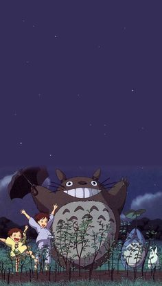 Studio ghibli,my neighbor totoro,hayao miyazaki Kawaii Wallpaper, Wallpaper Iphone Cute, Disney Wallpaper, Iphone Backgrounds, Studio Ghibli Art, Studio Ghibli Movies, Animes Wallpapers, Cute Wallpapers, Movie Wallpapers