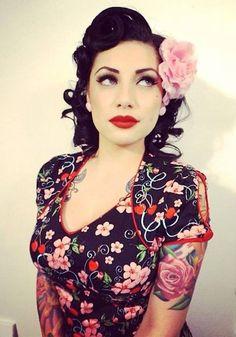 Breathtaking vintage rockabilly hairstyle ideas 11