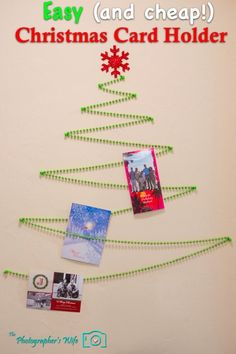 Christmas card display - Displays all your cards on the wall - easy AND cheap!