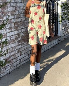 Fall Outfits, Summer Outfits, Cute Outfits, Style Me, Cool Style, Dr Martens Outfit, Dress Up, Shirt Dress, 2000s Fashion