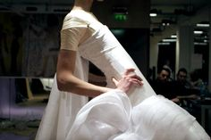 Toile look inside the atelier for Christian Dior haute couture s/s 2004