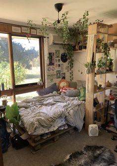 my insta is linked 💗 Room Design Bedroom, Room Ideas Bedroom, Bedroom Inspo, Study Room Decor, Indie Room Decor, Indie Bedroom, Indie Dorm Room, Indie Living Room, Hippie Bedroom Decor