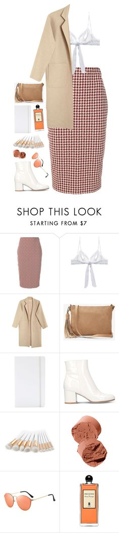 """""""London"""" by mode-222 ❤ liked on Polyvore featuring Victoria Beckham, Only Hearts, Mara Hoffman, Express, poppin., Gianvito Rossi, Bobbi Brown Cosmetics and Serge Lutens"""