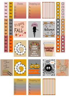 Free Printable Fall Stickers Sheet A4