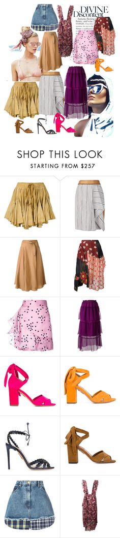 """Divine Discontent!"" by lalu-papa ❤ liked on Polyvore featuring Beach Riot, Vivienne Westwood Gold Label, Sophie Theallet, Sportmax, Simone Rocha, Bambah, Sonia Rykiel, Aquazzura, Natasha Zinko and IRO"