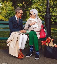 Iris Apfel joins supermodel Karlie Kloss for Kate Spade campaign #dailymail