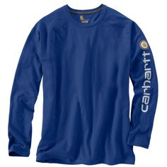 367f28c7 101302 Carhartt Men's Force Cotton Delmont Long Sleeve Graphic T-Shirt  Sweater Jacket, Carhartt