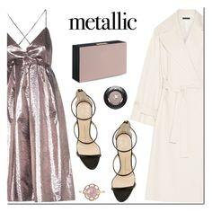 """Metallic Dresses"" by mada-malureanu ❤ liked on Polyvore featuring Victoria, Victoria Beckham, The Row, Lancôme, STELLA McCARTNEY, Giuseppe Zanotti, STARRS LONDON and metallicdress"