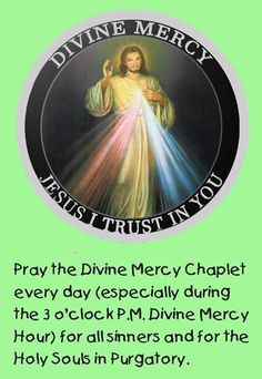 The Origin Of The Divine Mercy Chaplet. | One Million Who Pray Rosary Daily