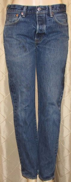 LEVI'S 501 BUTTON FLY MEN'S BLUE JEANS SIZE 32 X 31 Good Condition RED TAB #Levis #ClassicStraightLeg