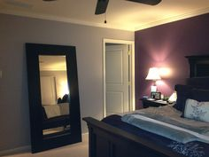 Purple and gray bedroom