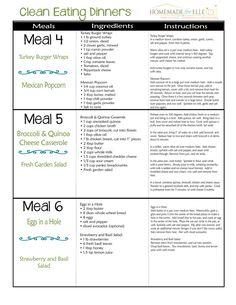 Clean Eating Menu Plan Week 3 Dinner Recipes