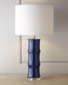 Gorgeous blue, simple clean design. Fabulous! Blue Ceramic Lamp at Neiman Marcus.
