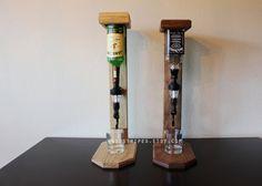Licor madera moderna solo tiro dispensador por woodstripes en Etsy