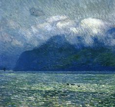 bofransson: The Silver Veil and the Golden GateFrederick Childe Hassam - 1914