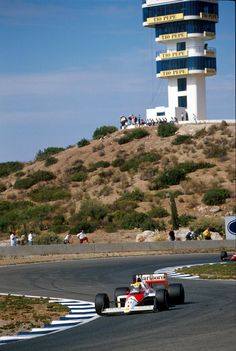 forgotten corners … Ayrton Senna, Marlboro McLaren-Honda MP4/5, 1989 Spanish Grand Prix, Jerez de la Frontera opened in '85 the original Jerez track had a chicane between corner 4 & what is now corner 6 (Dry Sack), it was replaced by a section with a...