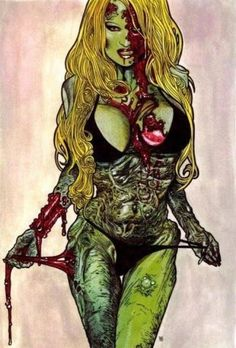 Free Stuff: zombie pin-up picture green/blonde - Listia.com Auctions for Free Stuff