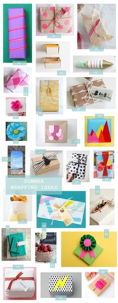 A beautiful image of Summer Gift Wrapping Ideas