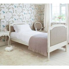 Provencal Linen Single Bed  - French Bedrooms