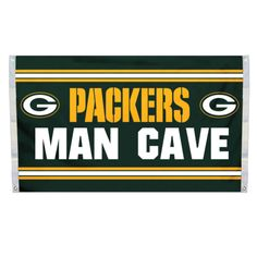 NFL Green Bay Packers Man Cave 3 x 5 Flag w/ 4 Grommets