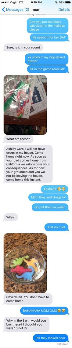 Most Funny Quotes :Youre grounded!: Mom thinks she found drugs in teens room girls explanation is hilarious