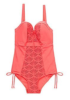 Curvy Kate Siren Fuller Bust Swimsuit - Coral