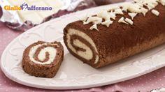 Rotolo al cacao con crema al cioccolato bianco(Chocolate roll with white chocolate cream)