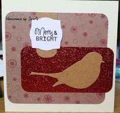 Handmade by Jenfie Krafty Christmas Red Robin Craftwork Cards