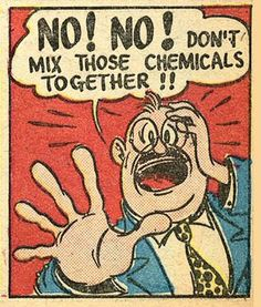 """No! No! don't mix those chemicals together!!"" Vintage Comic #words #comics…"