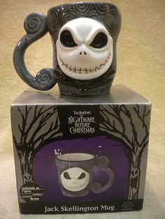 DISNEY Nightmare Before Christmas Jack Skellington 3D CUP COFFEE MUG NEW IN BOX