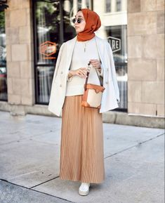 Hijab Fashion Casual Skirt Outfit Ideas To Copy - image:@elifd0gan - Looking for Inspiration On How To Wear Skirt Outfits, Casual Hijab Outfit With Skirt, Summer Hijab Outfit With Skirt, Street Style Skirt, Then Keep Reading For Inspo On Street Hijab Fashion, Chic Skirt Hijab Outfit, Black Skirt Hijab Outfit Casual Outfits With Modest Skirts, Classy Modest Outfits And Much More. #modestdressescasual #hijabfashion #hijabstylecasual #summerstyle #hijabfashion #hijaboutfit