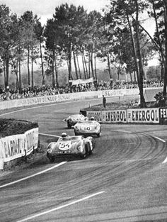 Through the esses in '57 - the minor classes. #54 Monople Panhard (DNF), #50 DB (DNF), #49 DB (17th).