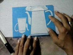 Pintura em tecido com stencil 1